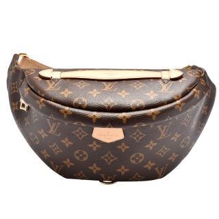 【Louis Vuitton 路易威登】M43644 經典Monogram帆布印花小牛皮飾邊拉鍊腰包/斜背包
