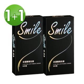 【SMILE史邁爾】買1送1 003保險套衛生套(12入x2盒)