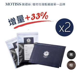 【MOTISS 莫緹絲】植物性增髮纖維 魔髮粉(20g 補充包 2入 全面升級 加量不加價)