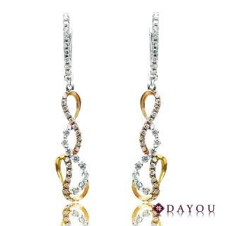 【DAYOU】75分 真金真鑽 纏綿鑽石耳環(F/VS2)