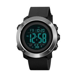 【SKMEI 時刻美】不鏽鋼圈簡約電子錶 休閒運動錶 1416(防水多功能錶 男女中性錶 學生錶 手錶)