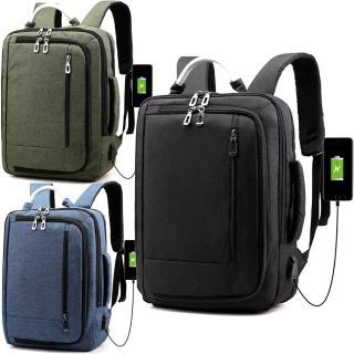 【iSPurple】城市漫步*三層充電箱杆電腦後背包(3色可選)