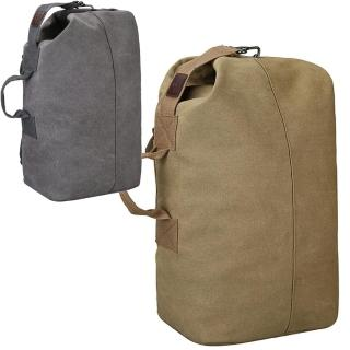 【iSPurple】率性正裝*大容量圓桶帆布男性後背包(2色可選)