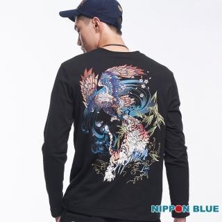 【BLUE WAY】進口金標-日本藍虎鷹鬥長TEE-日本藍