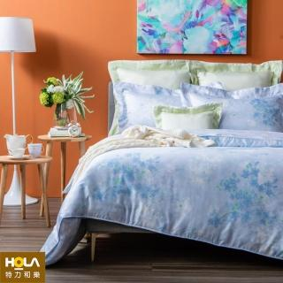 【HOLA】櫻藍天絲床包兩用被組 雙人