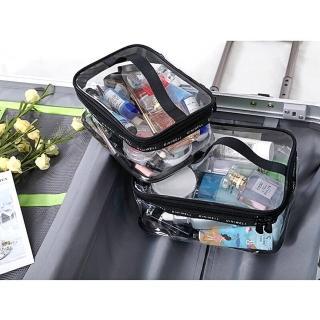 【TD 樂活】簡約透明PVC 旅行收納包 化妝包 洗漱包(大號)