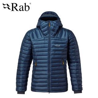 【RAB】Microlight Summit Jacket 高透氣羽絨連帽外套 男款 深墨藍 #QDA88