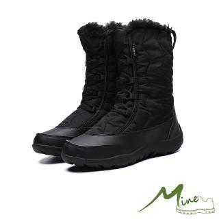 【MINE】機能防水防寒保暖時尚高筒雪靴(黑)