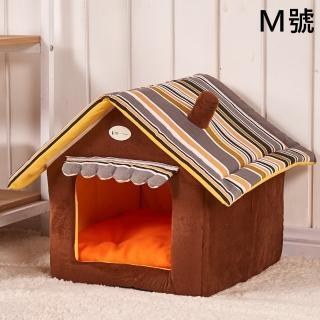 【KOTI 日安生活】可拆洗房子貓狗寵物窩墊-M號(保暖貓屋狗屋睡窩睡墊耐抓耐咬狗窩)