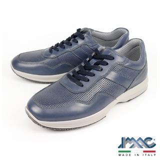 【IMAC】義大利綁帶輕量休閒運動鞋(藍色 301840-BLU)