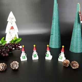 【日本You Zen】樹酯星帽雪人聖誕交換禮物字組-小(雪人/聖誕節/聖誕裝飾/聖誕襪)