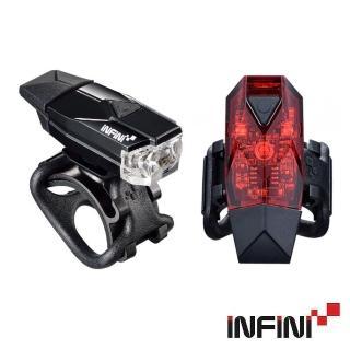 【INFINI】I-261WR USB充電LED車燈組 I-261W+I-261R(前燈/頭燈/警示燈/尾燈/夜騎/安全/自行車/單車)