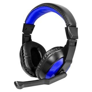 【KINYO】雙插頭電腦用頭戴式耳麥(EM-3653)