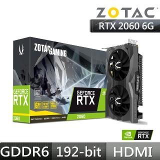 【ZOTAC 索泰】GAMING GeForce RTX 2060 顯示卡
