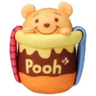 【Disney 迪士尼】維尼軟軟手握蜂蜜罐(迪士尼 幼兒)