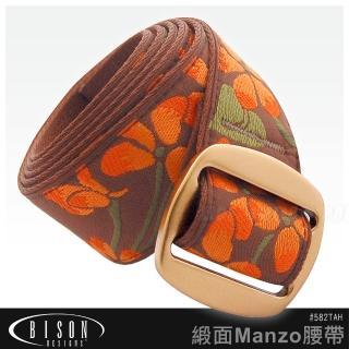 【BISON】緞面Manzo腰帶#582TAH
