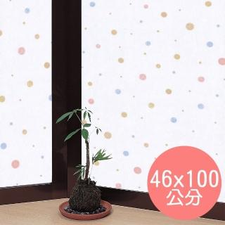 【meiwa】日本製造抗UV節能靜電窗貼(和風彩球- 46x100公分)
