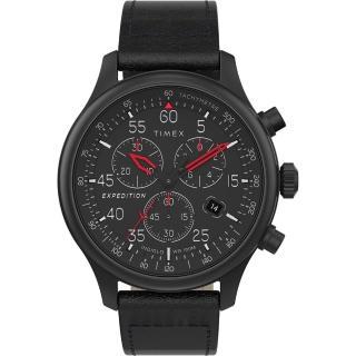 【TIMEX】天美時 遠征系列 三眼計時手錶(黑 TXTW2T73000)