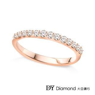 【DY Diamond 大亞鑽石】18K玫瑰金 鑽石線戒