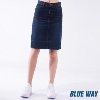 【BLUE WAY】修身丹寧牛仔短裙-鬼洗