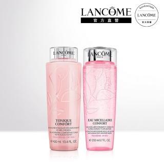 【LANCOME 蘭蔻】玫瑰粉水保濕卸妝組(玫瑰卸妝水200ML+溫和保濕水400ml)