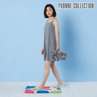 【Yvonne Collection】法蘭絨彩色圓圈地墊_50x70cm(米白)
