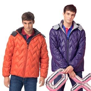【NOFAH】極致輕量保暖抗寒雙面穿天然羽絨外套(兩色)