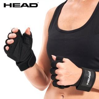 【HEAD】透氣式健身手套(超透氣/止滑耐磨/手掌完全包覆/運動輔具/護腕帶/助力帶)