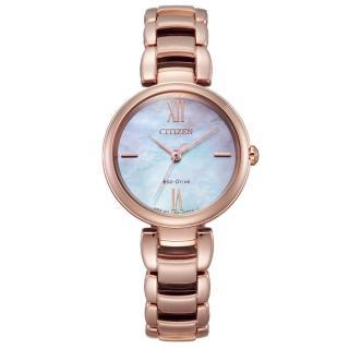 【CITIZEN 星辰】L系列璀璨光動能時尚腕錶(EM0532-85D)
