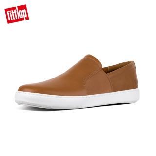 【FitFlop】COLLINS SLIP-ON SKATE SHOES輕量時尚簡約休閒鞋(淺褐色)
