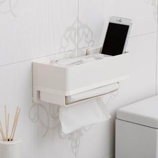 【3M】無痕極淨防水收納系列抽取式衛生紙架 免釘免鑽