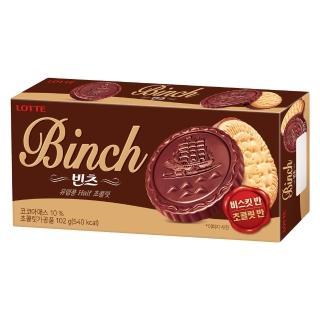 【Lotte 樂天】BINCH巧克力餅乾(102g)