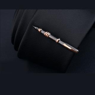 【拉福】領帶夾黑鋼筆襯衫夾領夾-單領夾(黑鋼筆款)