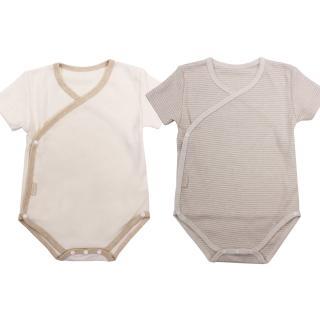 【Natures Purest】天然純綿-兩件裝短袖和尚袍(0-12M)
