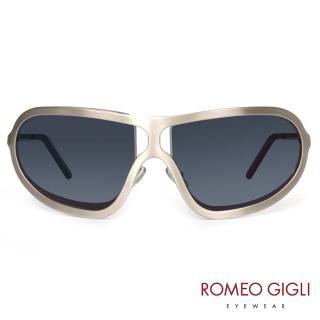 【Romeo Gigli】義大利一片式個性太陽眼鏡(銀-RG511-03)
