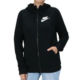【NIKE 耐吉】女 連帽外套 長袖上衣 衛衣 黑(930906010&930910010)
