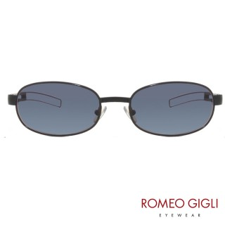 【Romeo Gigli】義大利造型摟空鏡腳橢圓框太陽眼鏡(藍-RG178-498)