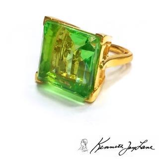 【Kenneth Jay Lane】慾望城市凱莉款 祖母綠切割 橄欖綠水晶戒指 DAZZLING(橄欖綠水晶戒指)
