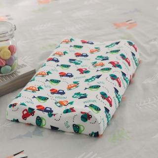 【Leafbaby】100%天然乳膠兒童枕 1入(工程車樂園)