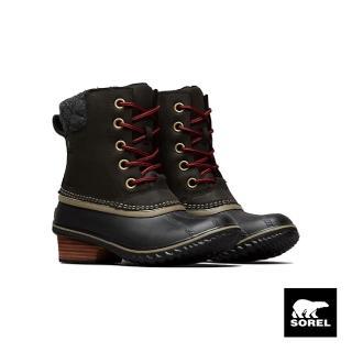 【SOREL】女款低跟休閒靴(黑色)