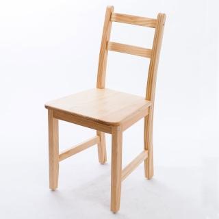 【CiS 自然行】北歐木作椅 扁柏自然色 原木椅板(泡棉墊 彩色椅墊 木書椅 弧形背部 北歐椅 實木家具)