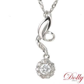 【DOLLY】天然鑽石 0.30克拉完美車工 14K金鑽石項鍊(072)