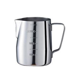 【Tiamo】1312不鏽鋼拉花杯-附刻度標-鏡光-360cc(HC7074)