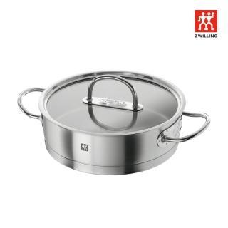 【ZWILLING 德國雙人】Prime 雙耳平煎鍋-24cm