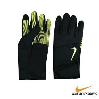 【NIKE 耐吉】男用保暖手套 黑綠 NWGI0077