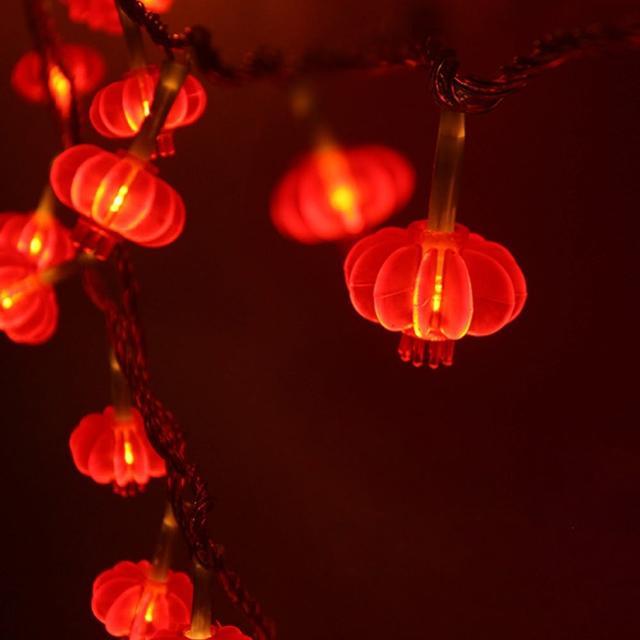 【聖誕布置/半島良品】24H發貨/1.5米紅燈籠燈/燈串/新年燈/裝飾燈(掛布