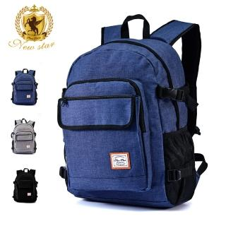 【NEW STAR】日系簡約防水多功能口袋後背包包筆電包 電腦包 BK285(後背包 筆電包 電腦包)