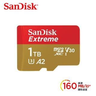 【SanDisk 晟碟】Extreme MicroSDXC A2 1TB 4K(公司貨)