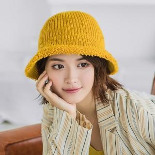 【Acorn 橡果】韓系純色保暖漁夫帽圓頂帽遮陽帽1712(黃色)