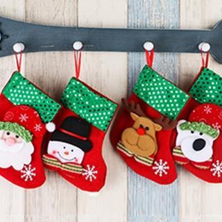 【BLS】聖誕亮片掛襪禮物袋-共四款(糖果袋/禮物袋)
